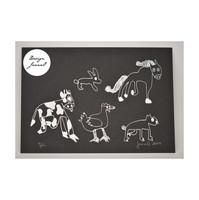 Eläinjengi - kortti - musta