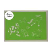 Eläinjengi - kortti - vihreä