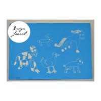 Eläinjengi - kortti - sininen