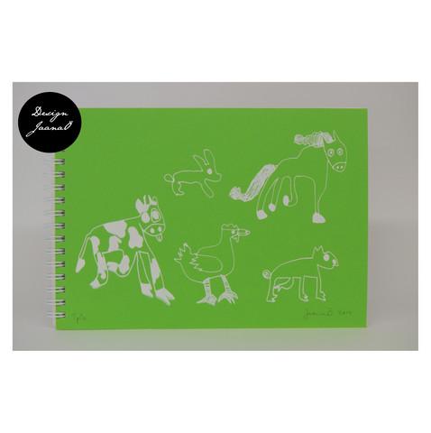 Eläinjengi - kierrevihko - vihreä
