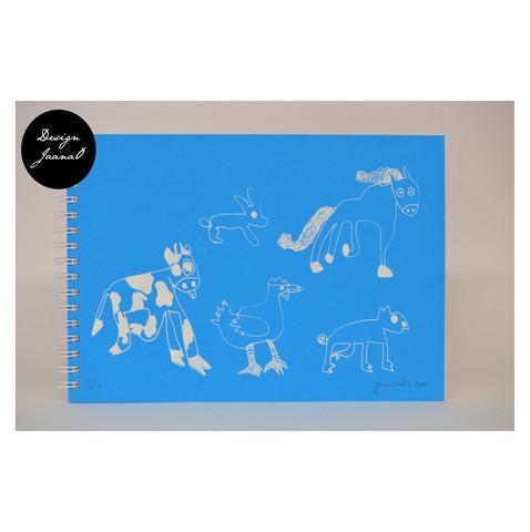 Eläinjengi - kierrevihko - sininen