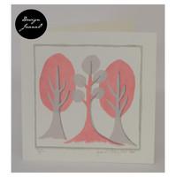Retropuut - Taitettu kortti - vaaleanpunainen