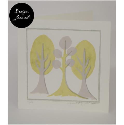 Retropuut - Taitettu kortti - vaaleavihreä