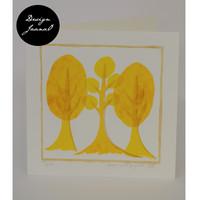 Retropuut - Taitettu kortti - keltainen