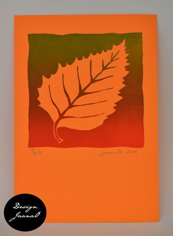 Lehti - kortti - punavihreä B