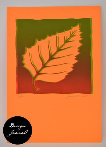 Lehti - kortti - punavihreä D