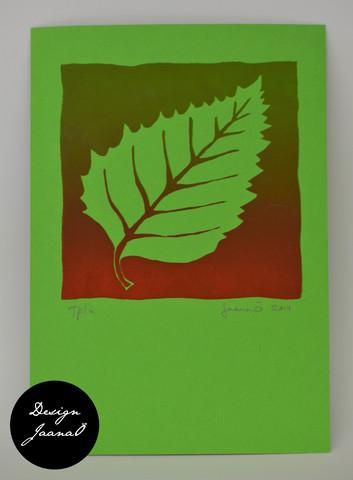 Lehti - kortti - punavihreä E