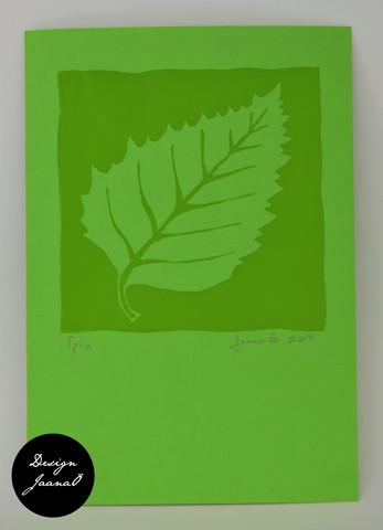 Lehti - kortti - vihreä C