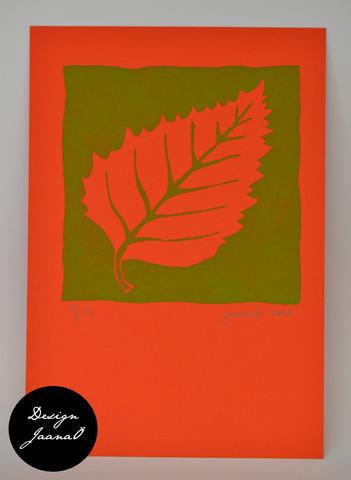 Lehti - kortti - vihreä D