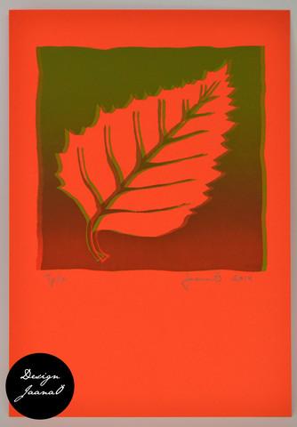 Lehti - kortti - punavihreä F