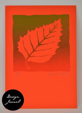 Lehti - kortti - punavihreä G