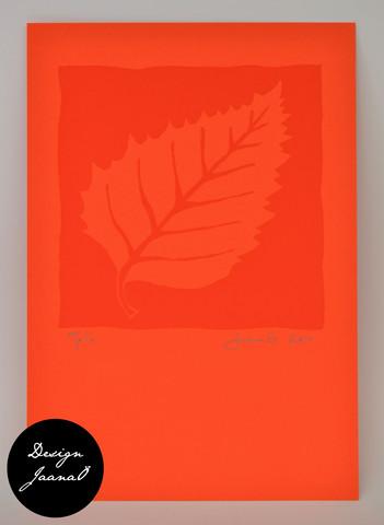 Lehti - kortti - punainen C