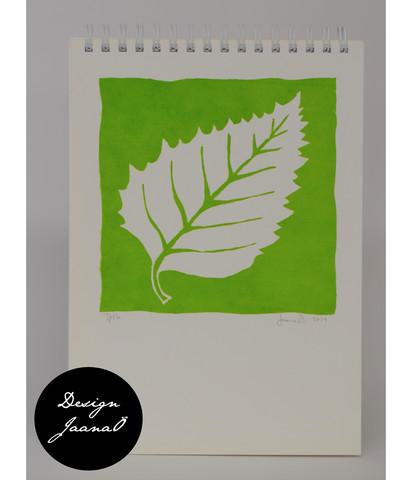 Lehti - kierrevihko - valkoinen&vihreä