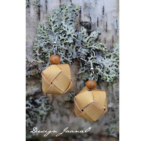 Pallokorvakorut - vaalea&ruskea