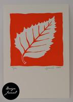 Lehti - kortti - punainen A