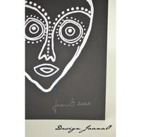 Hiljaiset naiset - Taitettu kortti - vahva - musta