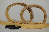 Kaulakoru tuohihelmistä (vaalea&musta) - ohjepaketti