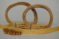 Kaulakoru tuohihelmistä (vaalea&ruskea) - ohjepaketti