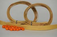 Kaulakoru tuohihelmistä (vaalea&oranssi) - ohjepaketti