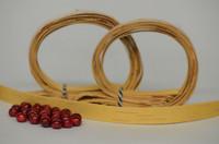 Kaulakoru tuohihelmistä (vaalea&punainen) - ohjepaketti