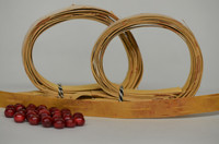Kaulakoru tuohihelmistä (kirjava&punainen) - ohjepaketti