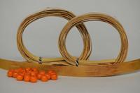 Kaulakoru tuohihelmistä (kirjava&oranssi) - ohjepaketti