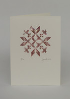 Kirjailtu - Taitettu kortti
