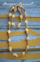 Kinuski - kaulakoru tuohihelmistä