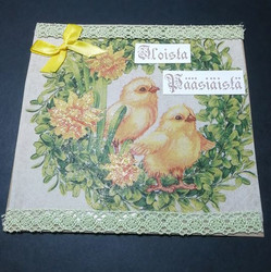 Handmade card happy easter