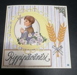 Handmade confirmation card wheet