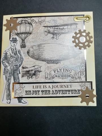 Handmade card Life Is Journey