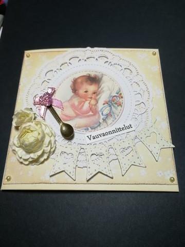 Kortti vintage vauvaonnnittelut