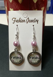 Friends earrings light pink
