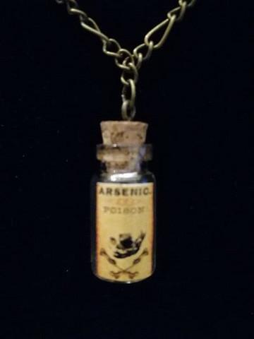Bottle of Arsenic necklace