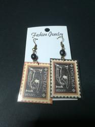 1 penny post mark earrings