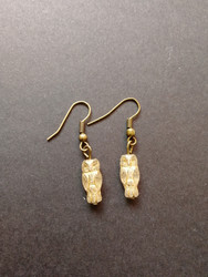 Gold coloring owl earrings