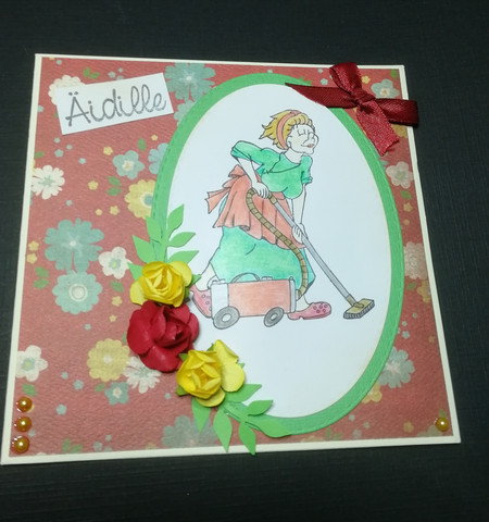Handmade mother's day card vacuum