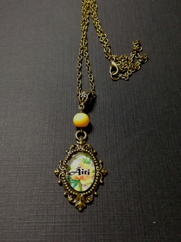 Yellow rose mother necklace