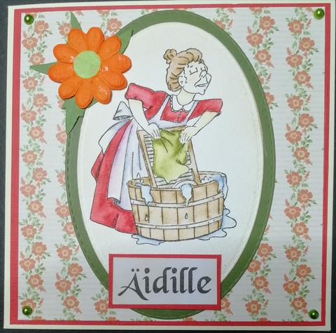 Kortti äidille pyykki