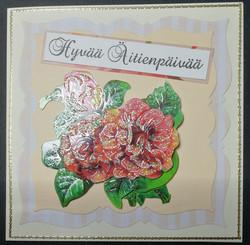 Kortti äidille ruusu
