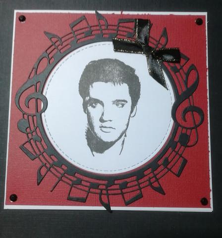 Handmade Elvis Presleyscard