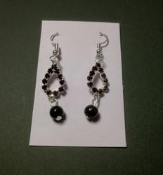 Violet drop earrings