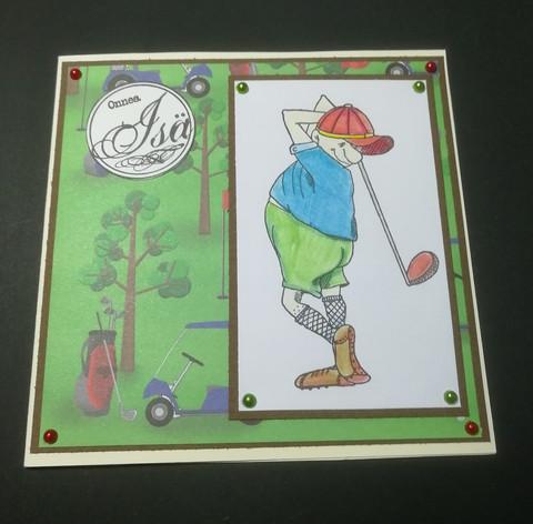 Isänpäiväkortti golf