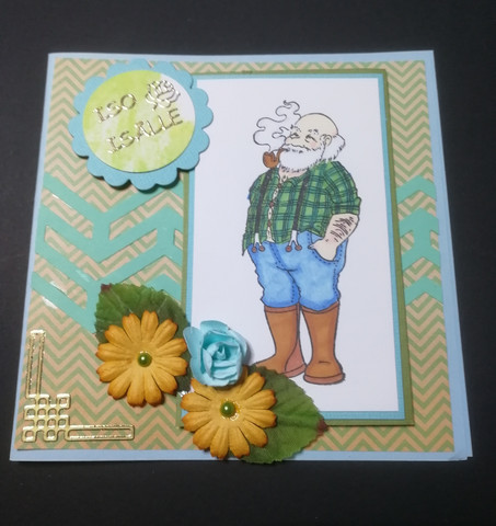Handmade grandfather card