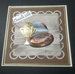 Isänpäiväkortti kalastus