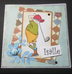 Isänpäiväkortti golffaaja