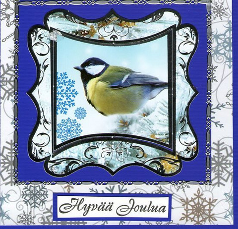 Blue bird Christmas card