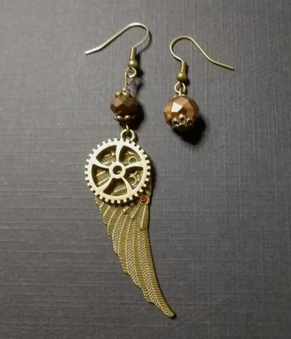 Winged Gear Earrings
