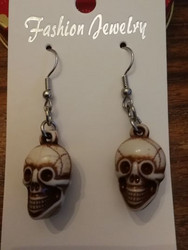 Brown skull earrings