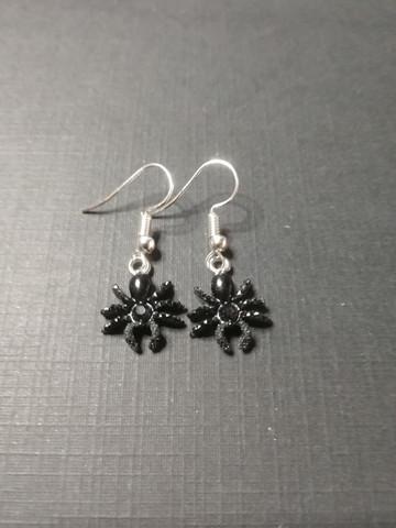 Black colour spider earrings